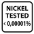 Nickel tested small