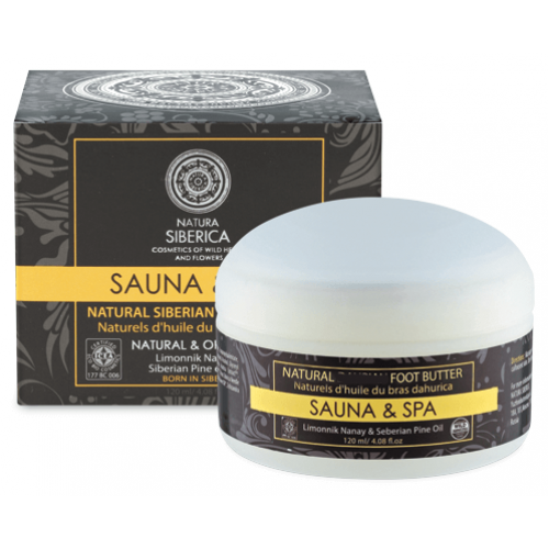 sauna and spa foot butter natura siberica