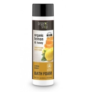 lemon e honey bath foam organic shop