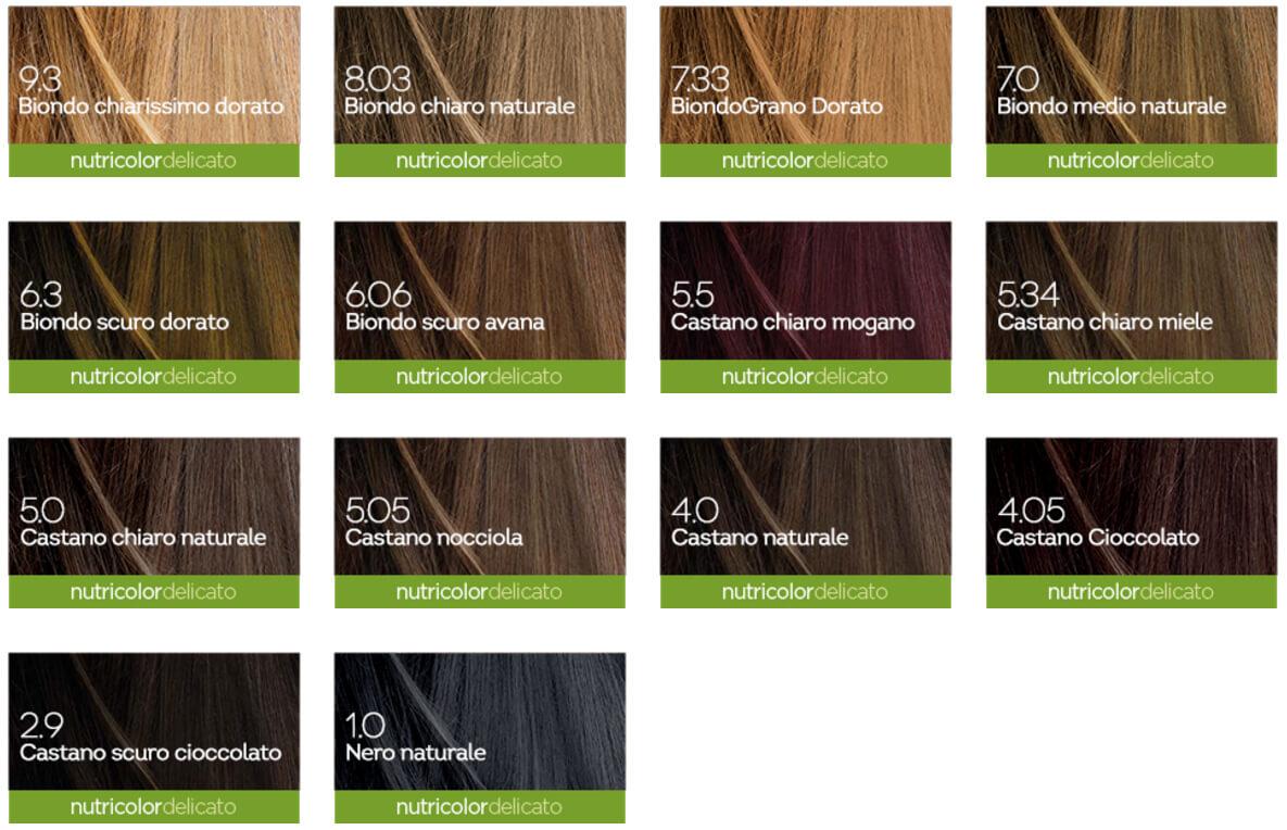 TAB COLORI nutricolor delicato. La tinta per capelli numero 5.0 – Castano  Chiaro Naturale di Biokap ... ab76d437a21a