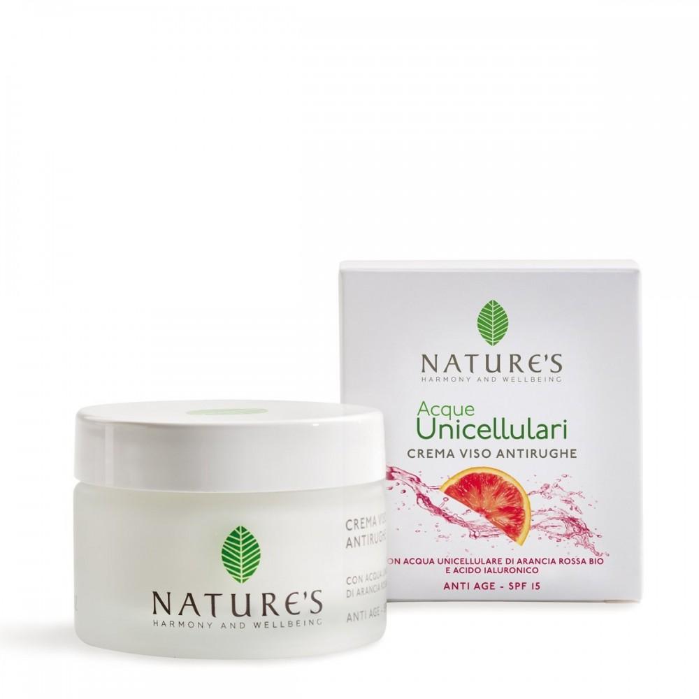 NATURE'S Acque Unicellulari - Crema Viso Antirughe SPF 15