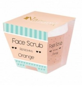 scrub viso arancia