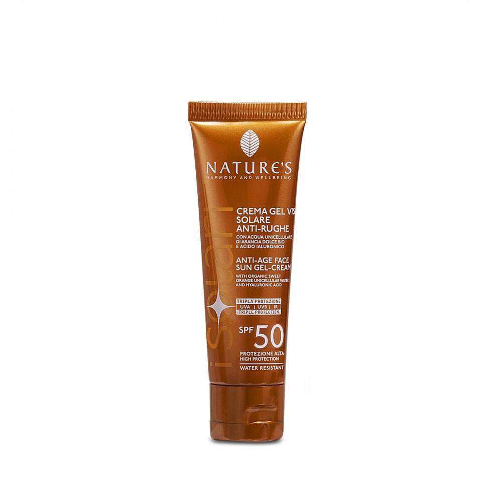 NATURE'S Crema Gel Viso Solare Antirughe SPF 50