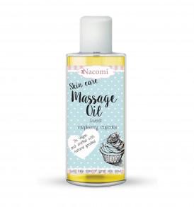 NACOMI Massage Oil Sweet Raspberry Cupcake - Olio Corpo Nutriente Lampone