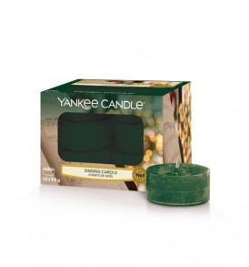yankee candle tea light singing carols