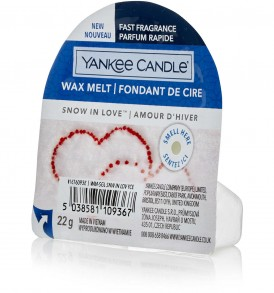 yankee candle wax snow in love