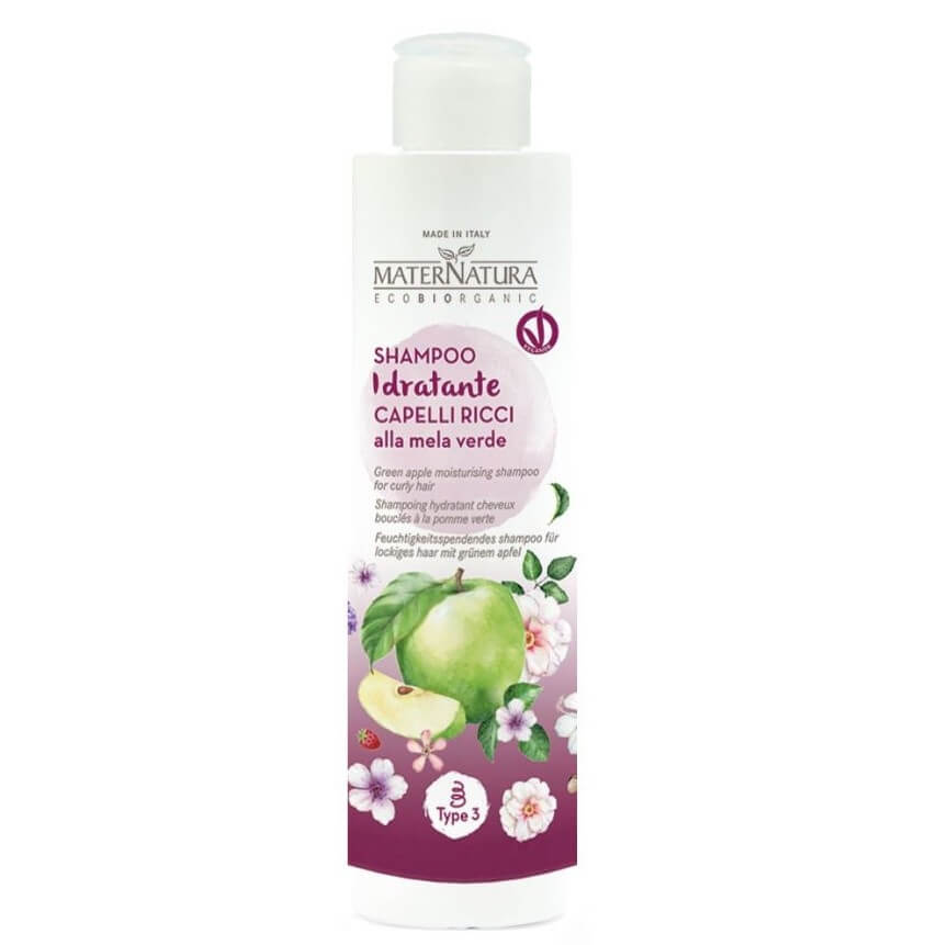 MATERNATURA Shampoo Idratante Capelli Ricci alla Mela Verde