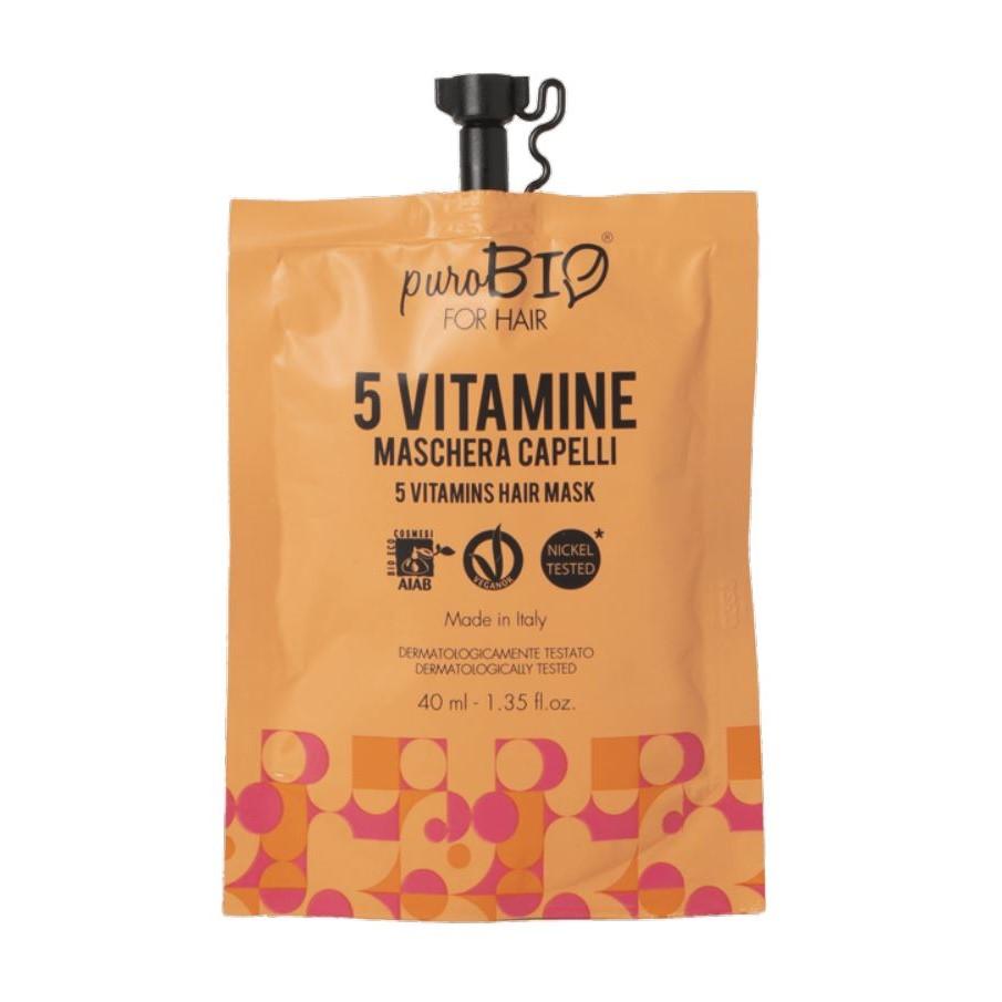 purobio maschera capelli all 5 vitamine