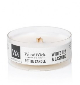 woodwick petite candle white tea & jasmine