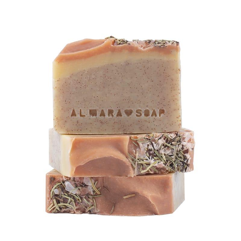 almara soap sapone naturale peeling walnut